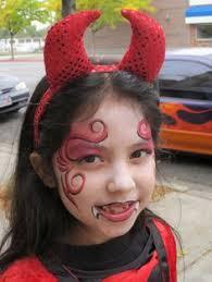 child devil face paint google search