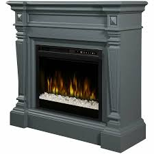 details about dimplex heather mantel electric fireplace with glass ember bed in gray