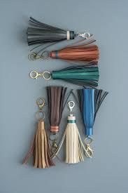 diy leather tassel key chain