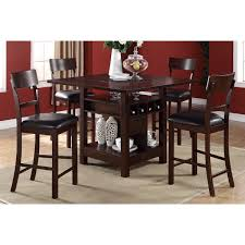 Arezzo 5 Piece Counter Height Dining Set With Wine Storage And Shelving