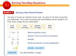 solving two step equations activities calculator tessshlo