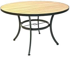 round resin table round resin table round resin teak table w black frame resin wood table