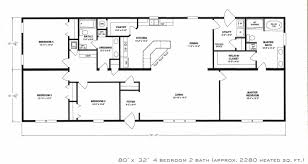 Attractive Fascinating Floor Plans For A 4 Bedroom 2 Bath House Also Single Wide Best  Trends Images Ideas And Incredible Pictures One Mobile Homes New Apartments  Ranch