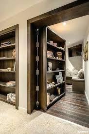 sliding barn door bookcase how to make a or hidden man cave