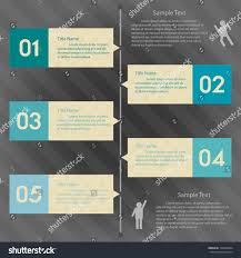 Design Clean Number Banners Templategraphic Website Stock Vector ...