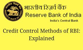 Credit Control Methods Of Rbi Explained Bankexamstoday