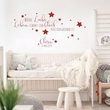 Wandtattoo Baby Geburt Spruch Zitat Sterne Kinderzimmer Wanddeko