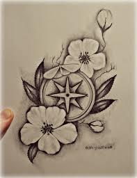 сделать татуировку компас сакура в городе краснодар по эскизу