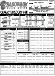 shadowrun 5 character sheet pin by dobby the elf on gaming character sheets ad d shadowrun