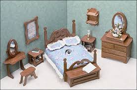 Furniture miniature Medieval Greenleaf Dollhouse Kits Miniature Furniture Kits Bedroom