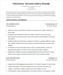 Teachers Sample Resume Teacher Sample Resume School Teacher Resume ...