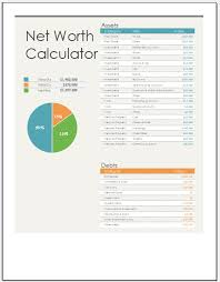 Net Worth Calculator Net Worth Calculator Template For Ms Excel Excel Templates