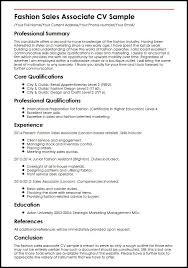 Gallery Of Sales Associate Resume Template
