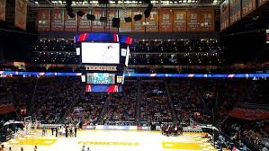 Interior Of Arena With Luxury Boxes Behind Scoreboard