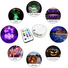 Efx Led Lights Waterproof Submersible 10 Led Lights 16 Colors Changing With