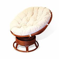 pampasan chair. Rattan Wicker Swivel Rocking Round Papasan Chair With Cushion Colonial (Light Brown) Pampasan