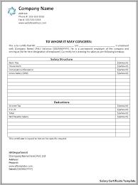 Salary Certificate Free Sample Copy 6 Free Salary Slip Sample ...