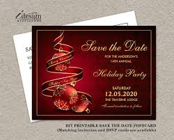 Christmas Party Save The Date Templates Holiday Party Save The Date Card Printable Christmas