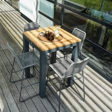 Ensemble salon haut table SENSE + 4 chaises bar ELOS