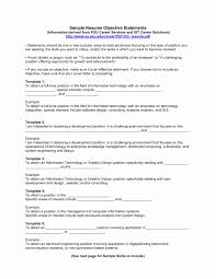 Resume Outline Example Fresh Objective In Resume Example Sample