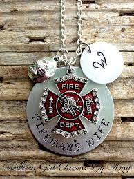 fireman s wife necklace firefighter s wife by southerncharmsam 30 00