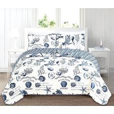coastal quilt sets. Coastal Quilt Sets Reversible 3 Piece Set By Home Fashion Designs Beach Comforter E