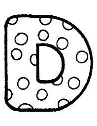 Printable Bubble Letters Polka Dotted Letter D With Dot Coloring