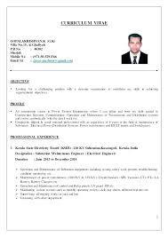 Resume Formats For It Freshers It Resume Format For Freshers