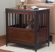 good for dogs up to 35 pounds the industrial style pet crate doubles as a very stylish and unique end table or night table made of engineered wood with