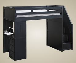 kids loft bed with stairs. Delighful With Addison Stair Loft Bed Black  Jay Furniture 1 GT085XBK To Kids With Stairs N