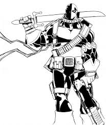 Small Picture Deathstroke Coloring Pages 2017 DebbieGeorgatos