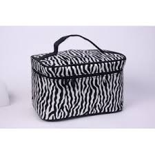 whole zebra print cosmetic toiletry bag