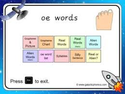 Phonics worksheets and online activities. Oe Worksheets And Games Galactic Phonics