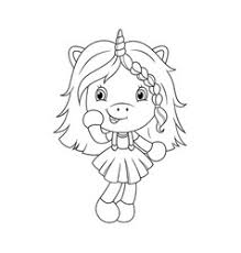 Cute Girl Coloring Pages Vector Images Over 780
