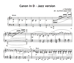 Fingerings included, easy transcription by miroslav mirosavljev with mp3 and midi files. Canon In D Pachelbel Jazz Version For Piano Solo Sheet Music Pdf My Sheet Music Transcriptions