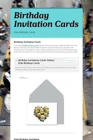 Online Birthday Cards For Kids Birthday Invitation Cards Kids Birthday Cards Pinterest