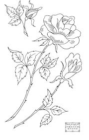 Rose Embroidery Pattern
