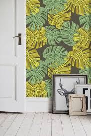 Zelfklevend Behang Monstera Groen Geel 122x122 Cm Tapetshow