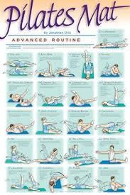 Pilates Wall Chart Pilates Mat Workout Advanced Routine Professional Fitness