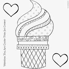 empty ice cream cone coloring page.  Cream Ice Cream Coloring Pages For Kids In Empty Ice Cream Cone Coloring Page