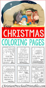 Free Bible Coloring Pages For Christmas