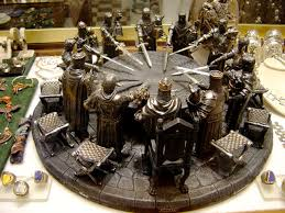 the round table is part of british folk history he was a powerful king with a magical sword excalibur and a group of loyal solrs called knights