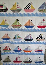 Sailboat Quilt Nautical Cottage Quilt Lake by DreamyVintageSheets ... & Sailboat Quilt Nautical Cottage Quilt Lake by DreamyVintageSheets Adamdwight.com