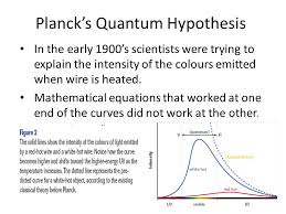 planck s quantum hypothesis in the early 1900 s scientists were trying to explain the intensity of the