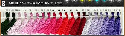 Neelam Thread Color Chart Shade Card