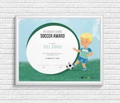 Kids Award Certificate Kids Soccer Award Certificate