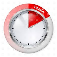10 Minutes Red Timepiece Icon Stock Vector Image