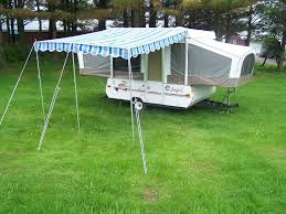 back to pop up camper awning