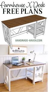 office furniture plans. DIY Farmhouse Office Desk At The Home #office #desk Furniture Plans I