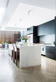 Kitchen Floor Marble Black Poly Kitchen Cabinets White Marble Island Benchtop With